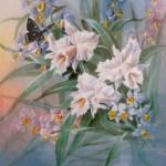 «Орхидеи» 2002. бумага, пастель, акварель 19х26