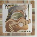 «Бардовская песня» 2010, гобелен, ткачество, 50х50