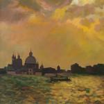 «Венеция. Заход солнца» 2010. холст, масло, 80х60
