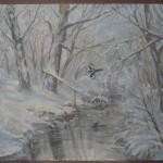 «Река Кензарь д.Андреевка 2010. бумага, гуашь 40х60