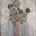 «Сухие розы» 2004. бумага, акварель, гуашь 30х50