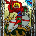 Св. Георгий, витраж