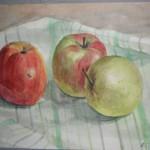 «Яблоки» 2010. бумага, акварель 20х30