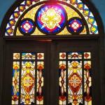 Церковь в честь Иверской иконы Божией Матери, витраж