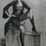 «Кэжл» бумага, соус 83х59