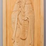 «Святой Вадим Персидский», 22х51, 2010, резьба (липа), морилка, мастика