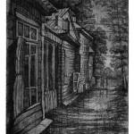 «Тамбовская улица» 2011. офорт, 14,5х17,5