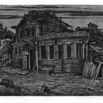 «Тамбовский домик» 2011. офорт, 13,5х21