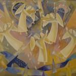 «День Ангела» 2008. бумага, гуашь, 70х80