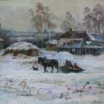 «Домой на санях» 2011, холст, масло, 50х60