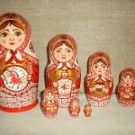Набор матрешек 7 шт. «Северные красавицы», Мезенская роспись